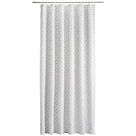 Duschvorhang Spain Türkis 180x200cm - Hellgrau/Weiß, LIFESTYLE, Textil (180/200cm) - Mömax modern living