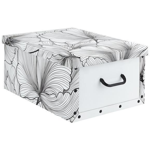 Box mit Deckel Foldy ca. 30l - Schwarz/Weiß, Karton/Kunststoff (55/40/25cm)