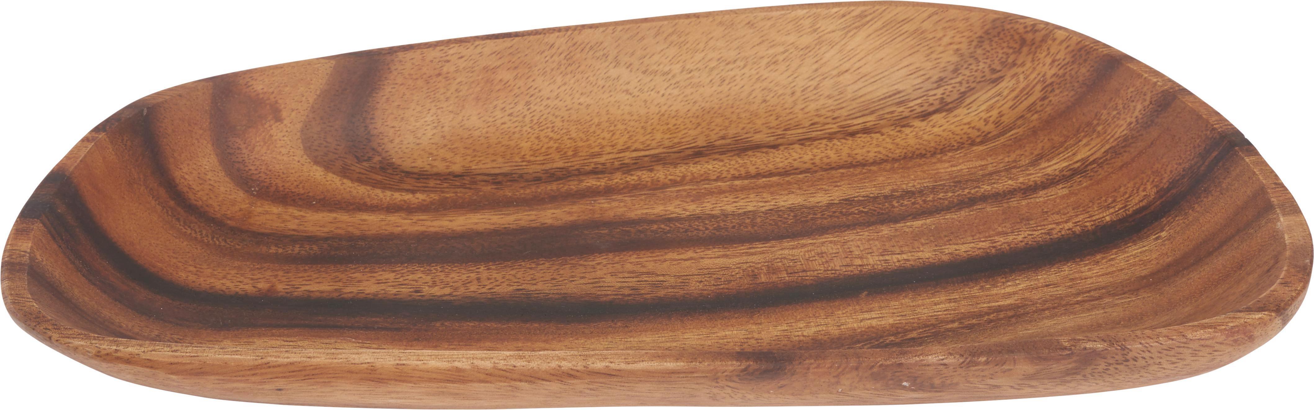 Dekoteller Masai in Braun aus Holz - Braun, LIFESTYLE, Holz (31/18/3cm) - MÖMAX modern living