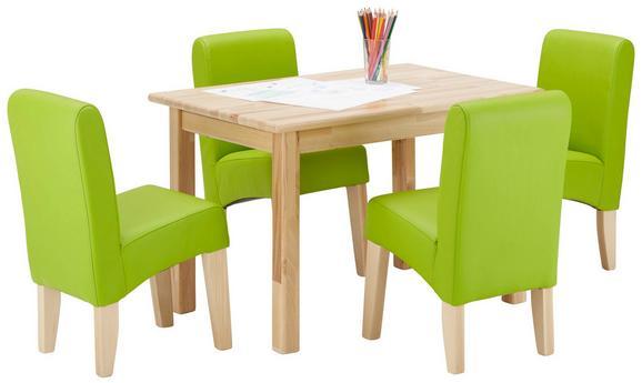 Kindersitzgruppe in Grün und Buche - Buchefarben/Grün, KONVENTIONELL, Holz/Textil (780/580/770cm) - Modern Living