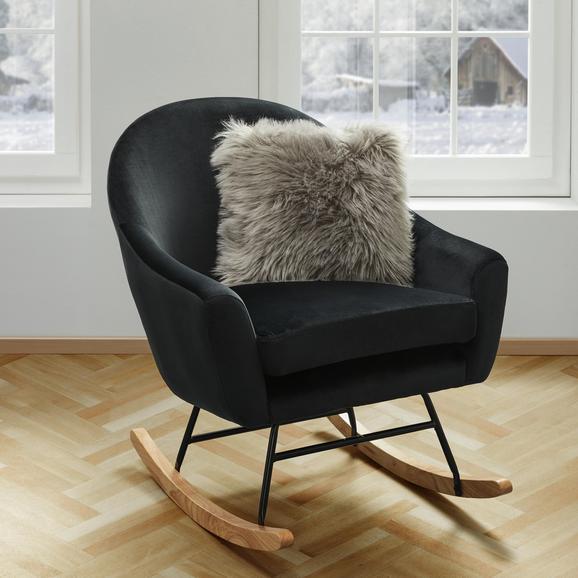 Schaukelstuhl Sophie - Schwarz, MODERN, Holz/Textil (74/87/91,5cm) - Mömax modern living