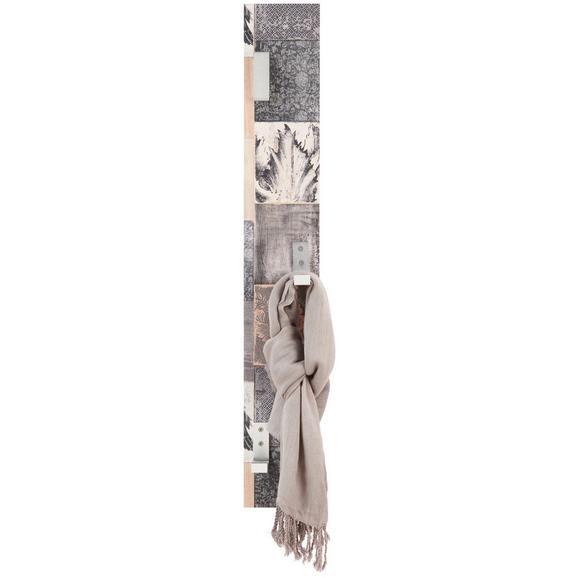 Wandgarderobe im Mosaik-Look - MODERN, Holzwerkstoff (15/115cm)