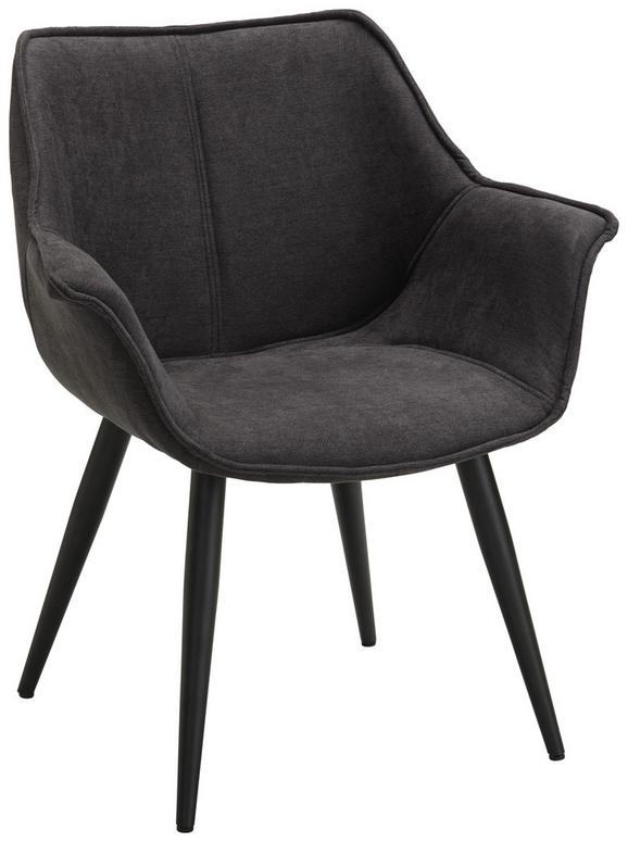 Stuhl in Grau - Schwarz/Grau, LIFESTYLE, Textil/Metall (63/75,5/67,5cm) - Modern Living