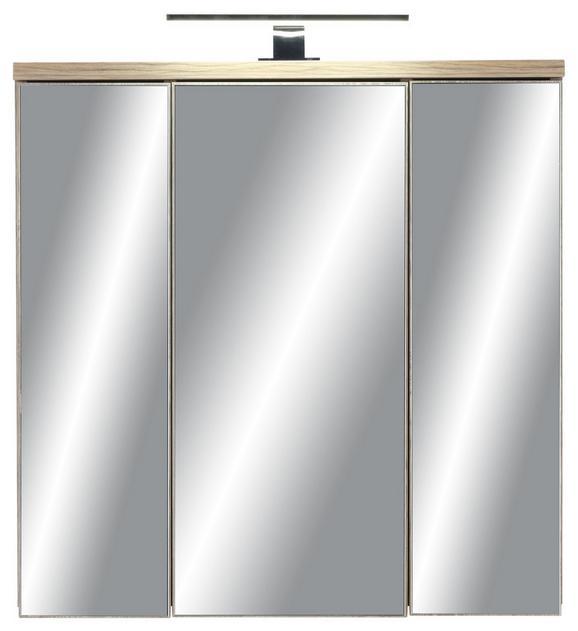 Spiegelschrank in Kieferfarben - Dunkelgrau/Kieferfarben, MODERN, Glas/Holzwerkstoff (69/68/20cm) - MÖMAX modern living