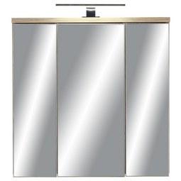 Spiegelschrank Kieferfarben - Dunkelgrau/Kieferfarben, MODERN, Glas/Holzwerkstoff (69/69/20cm) - Mömax modern living