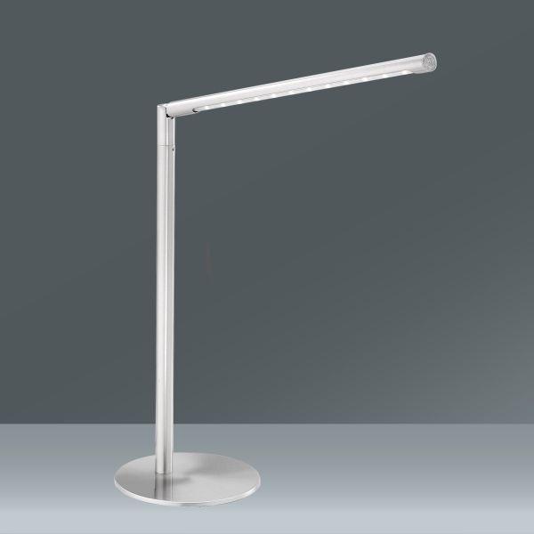 Asztali Lámpa Dawda - nemesacél színű, modern, fém (15,5/15,5/81,5cm)