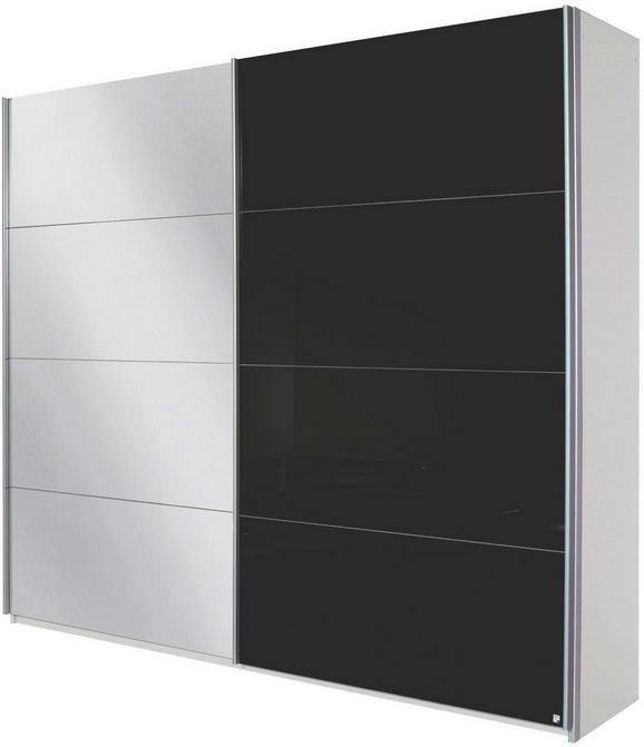 Omara Z Drsnimi Vrati Quadra - aluminij, Moderno, kovina/leseni material (226/229/61cm) - Modern Living