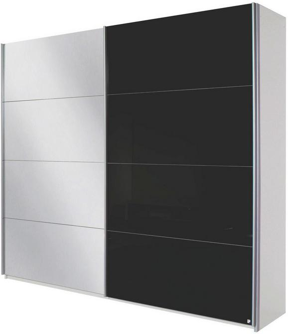 SCHWEBETÜRENSCHRANK Weiß/Schwarz - Alufarben, MODERN, Holzwerkstoff/Metall (226/229/61cm) - Modern Living
