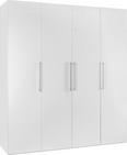 Omara S Klasičnimi Vrati Glossy - bela/krom, Konvencionalno, kovina/leseni material (196/219/60cm) - Mömax modern living