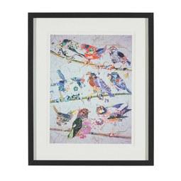 Aquarellbild Birdy IIi 46x56 cm - Multicolor/Schwarz, MODERN, Glas/Holz (46/56/3cm) - MÖMAX modern living