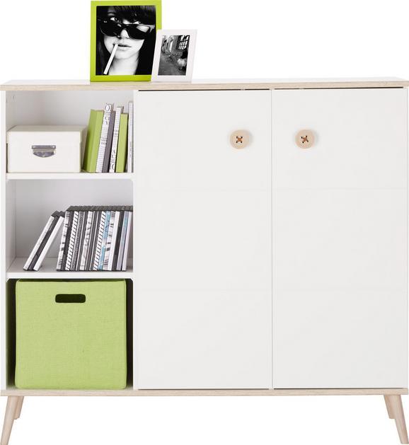 Highboard Weiß Holz - Eichefarben/Weiß, MODERN, Holz/Holzwerkstoff (125/111/40cm) - MODERN LIVING
