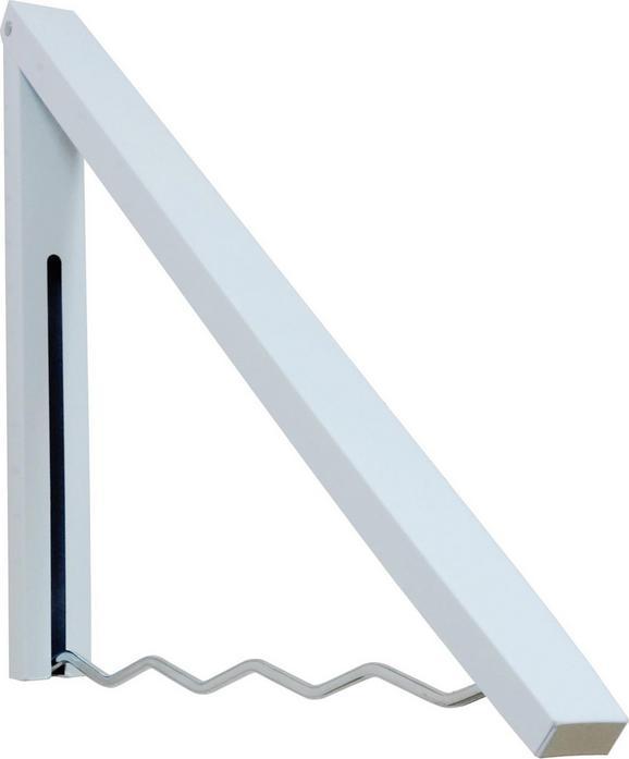 Stenski Obešalnik Klapp - bela, kovina (4,3/44/2,3-42cm)