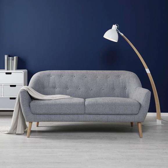 Sofa Anela 2,5 Sitzer - Naturfarben/Grau, MODERN, Holz/Textil (168/79/84cm) - Bessagi Home