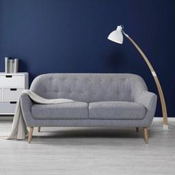 Zweisitzer Sofa Anela - Naturfarben/Grau, MODERN, Holz/Textil (168/79/84cm) - Mömax modern living