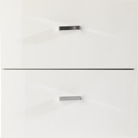 Schublade in Weiß Hochglanz 2er Set - Weiß, MODERN, Holzwerkstoff/Kunststoff (35/35/33cm) - Mömax modern living