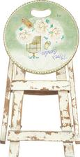 Klapphocker in Weiß/Grün - Multicolor/Hellgrün, LIFESTYLE, Holz/Holzwerkstoff (30/30/43cm) - MÖMAX modern living