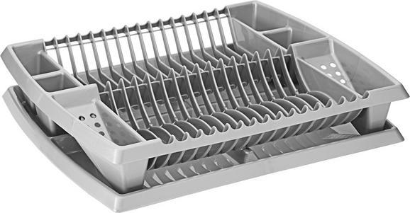 Edényszárító Helge - ezüst színű, műanyag (44,2/38,3/8,5cm)