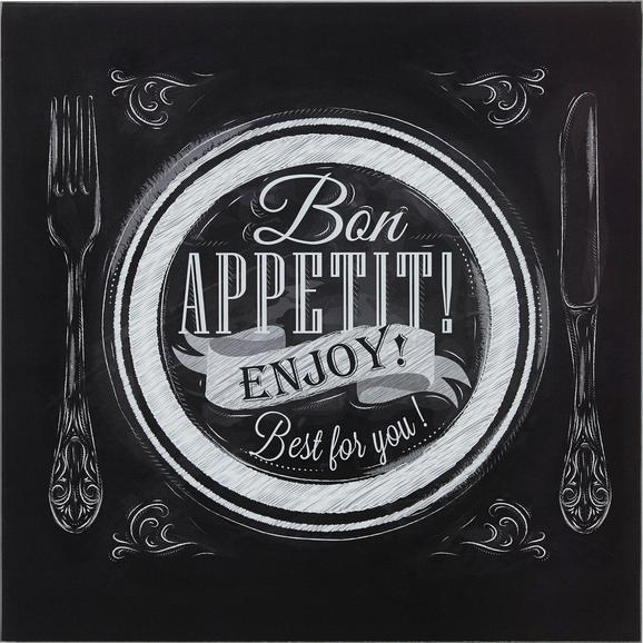 Glasbild Bon Appetit, ca. 30x30x2cm - Multicolor, MODERN, Glas (30/30/2cm) - Mömax modern living