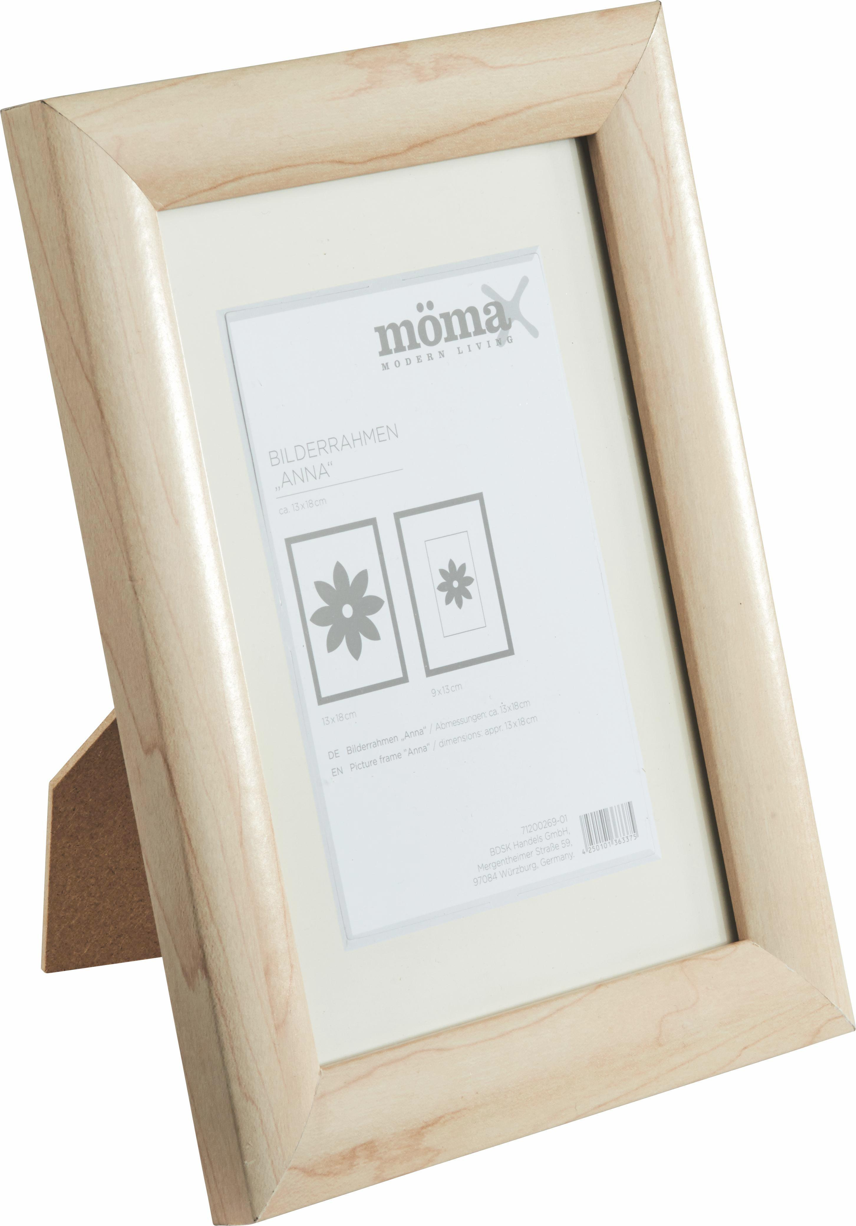 Bilderrahmen Anna, ca. 18x24cm aus Holz - Naturfarben, ROMANTIK / LANDHAUS, Glas/Holz (18/24cm) - MÖMAX modern living