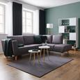 Wohnlandschaft Kyle - Dunkelgrau, MODERN, Holz/Textil (262/196cm) - Mömax modern living