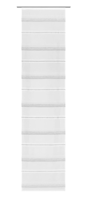 Flächenvorhang Louis, ca. 60x245cm - Weiß/Grau, KONVENTIONELL, Textil (60/245cm) - Mömax modern living