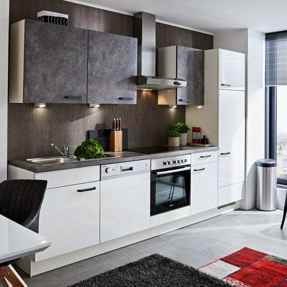 Küchenblock Flash/colorconcept Grau/Weiß - Weiß/Grau (290cm)