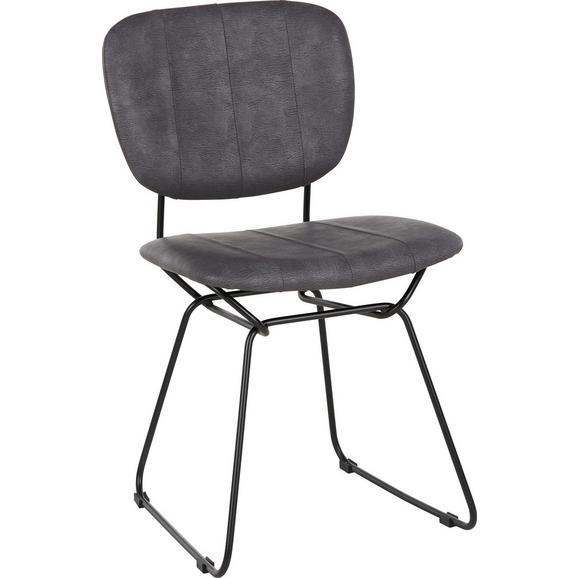 Stuhl in Grau - Schwarz/Grau, Textil/Metall (47/81/58cm) - Mömax modern living
