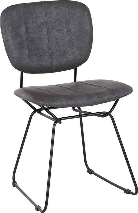 Stuhl in Grau/Schwarz - Schwarz/Grau, Textil/Metall (47/81/58cm) - Mömax modern living