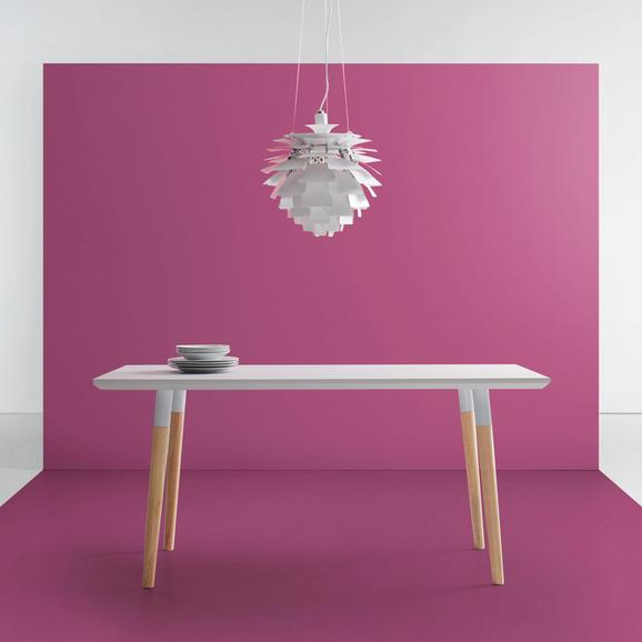 Esstisch Evlyn 160x80cm - Hellgrau/Naturfarben, MODERN, Holz/Metall (160/80/75cm) - Modern Living