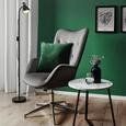 Sessel Adison - Chromfarben/Dunkelgrau, MODERN, Textil/Metall (66/101-110/74cm) - Bessagi Home
