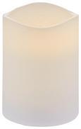 Kerze mit Led Leonie Weiß - Weiß (7,5/10cm) - Mömax modern living