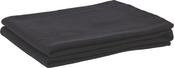 Polár Pléd Trendix - Fekete, Textil (130/180cm) - Mömax modern living