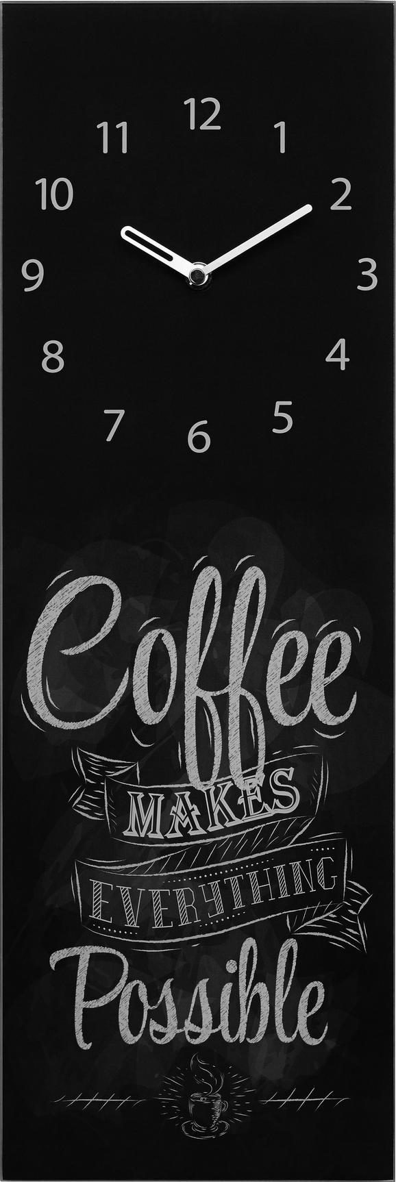 Stenska Ura Coffee - črna/bela, Moderno, kovina/steklo (20/60/3,5cm) - Mömax modern living