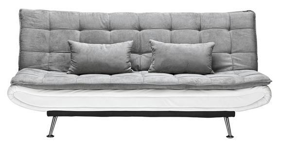 Schlafsofa Grau - Silberfarben/Weiß, Holz/Textil (196/92/98cm) - Modern Living