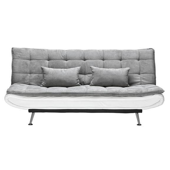Zofa S Posteljno Funkcijo Cloud - siva/bela, kovina/tekstil (196/92/98cm) - Mömax modern living