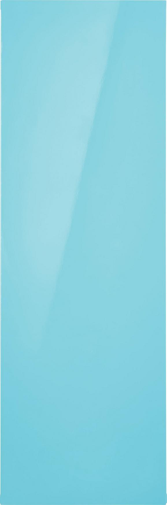 Hängeschrank Hellblau Hochglanz - Hellblau, MODERN, Holzwerkstoff (90/30/34cm) - Mömax modern living