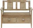 Bank Savannah Antik - Kieferfarben, Holz/Metall (111/91/50cm) - Premium Living
