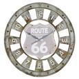 Stenska Ura Route 66 - siva/rjava, Trendi, kovina (80/4cm) - Mömax modern living