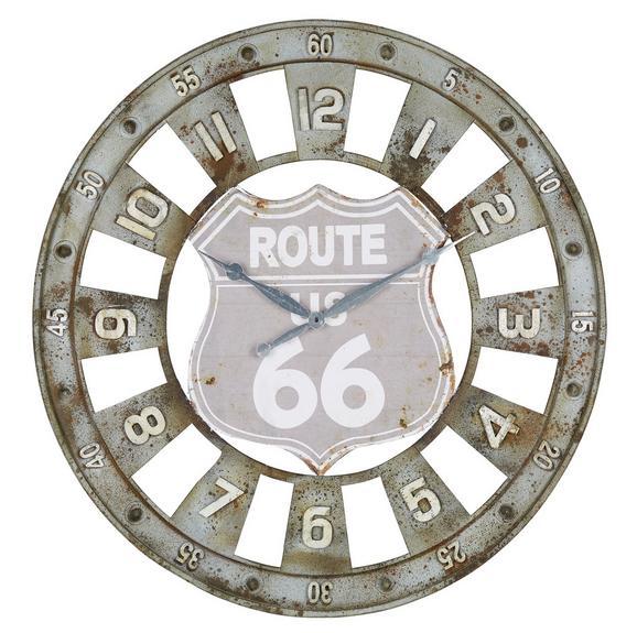 Wanduhr Route 66, ca. 80x4cm - Braun/Grau, LIFESTYLE, Metall (80/4/cm) - Mömax modern living