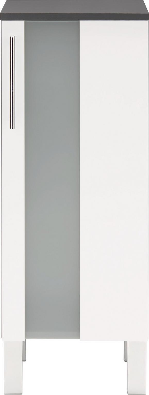 Unterschrank Weiß/Anthrazit - Chromfarben/Anthrazit, MODERN, Glas/Holzwerkstoff (33/85/31cm) - Mömax modern living