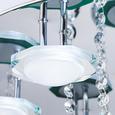 Deckenleuchte Wave mit Led 7-flammig - Chromfarben, MODERN, Glas/Metall (45/45/25cm) - Premium Living