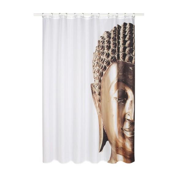 duschvorhang buddha ca 180x200cm online kaufen m max. Black Bedroom Furniture Sets. Home Design Ideas