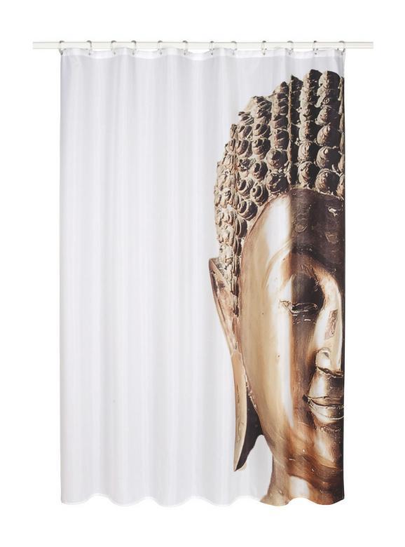 Duschvorhang Buddha, ca. 180x200cm - Goldfarben, LIFESTYLE, Textil (180/200cm) - MÖMAX modern living