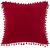 Zierkissen Pompon Rot 45x45cm - Rot, Textil (45/45cm) - Mömax modern living