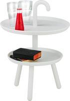 Kisasztal Jacky - Fehér, modern, Műanyag (42/56cm) - Kare-Design