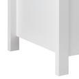 Garderobenbank Len mit Stauraum inkl. Sitzkissen - Weiß, MODERN, Holz (87/48/38cm) - Modern Living