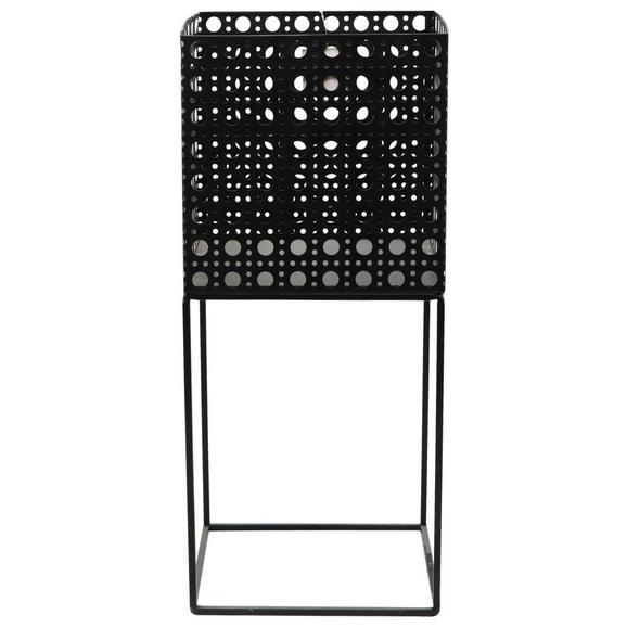 Ghiveci Decorativ Mesh - negru, metal (20/46,5/20cm) - Modern Living