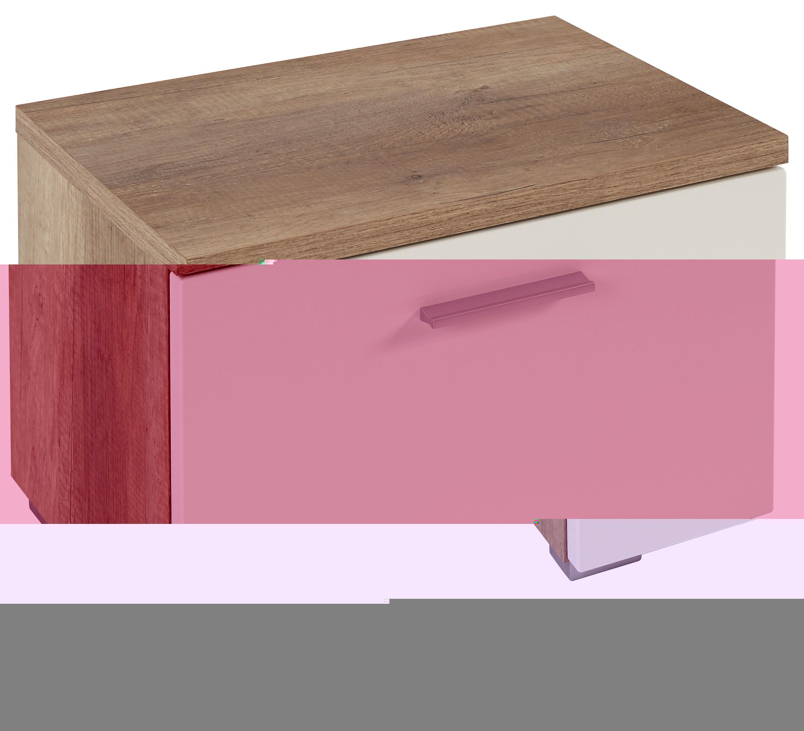 Előszoba Szekrény Space - tölgy színű/fehér, modern (55/38/35cm)