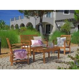 Gartenset Penza in Naturfarben/Weiß - Naturfarben/Weiß, MODERN, Holz - MÖMAX modern living