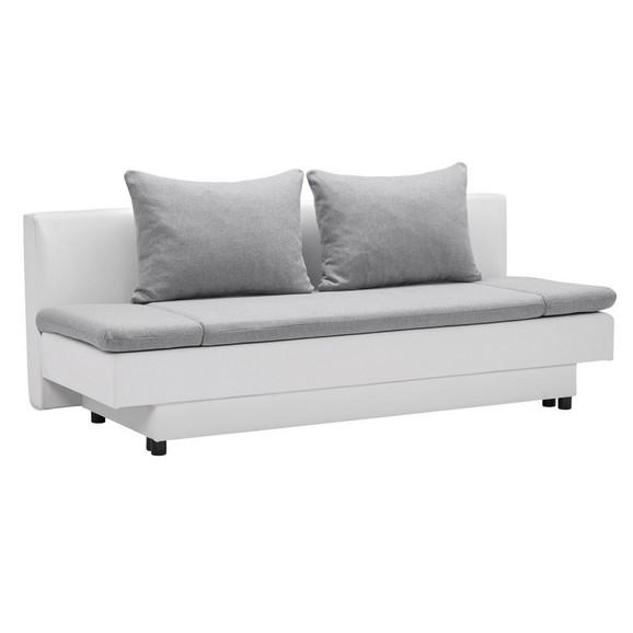 schlafsofa wei grau mit bettkasten online kaufen m max. Black Bedroom Furniture Sets. Home Design Ideas